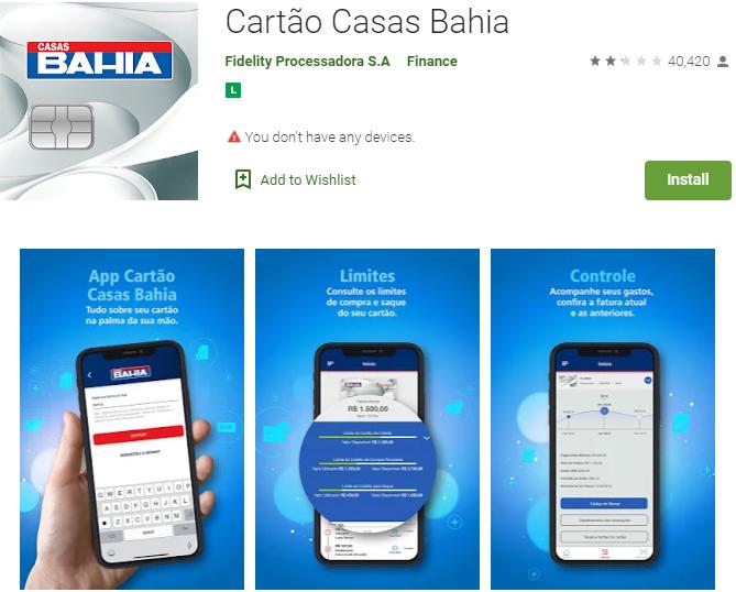 saiba como solicitar o cartão de crédito Casas Bahia