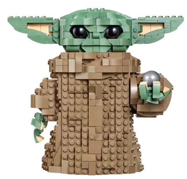 Este é outro Lego Baby Yoda que você pode comprar - não em tamanho real, mas ainda bonito.  Crédito: Lego