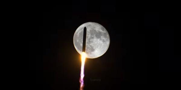 NG-14 Antares Rocket Lunar Transit