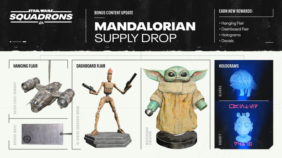 Star Wars: Squadrons está recebendo um Baby Yoda