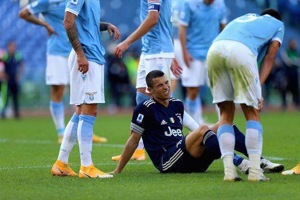 Ronaldo sofreu uma lesão no tornozelo no empate de domingo com a Lazio