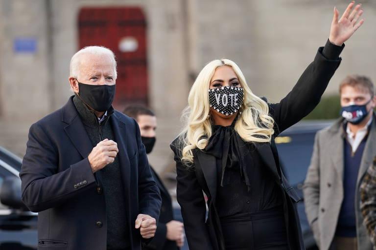 F5 - Celebridades - Trump chama Bon Jovi de 'puxa-saco' e critica Lady Gaga  após artistas apoiarem Joe Biden - 02/11/2020