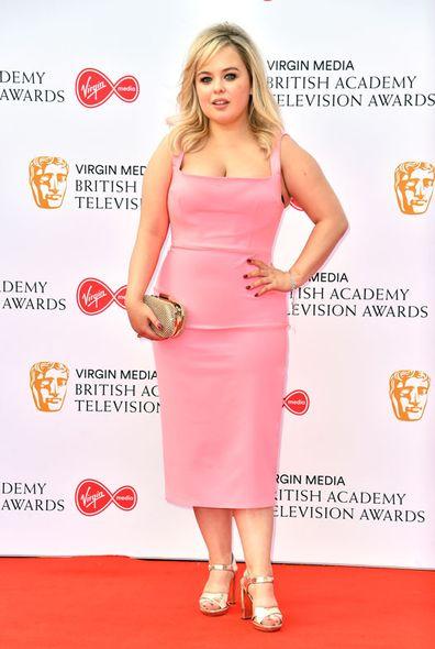 Nicola Coughlan chega ao Virgin Media BAFTA TV Awards (maio de 2019)