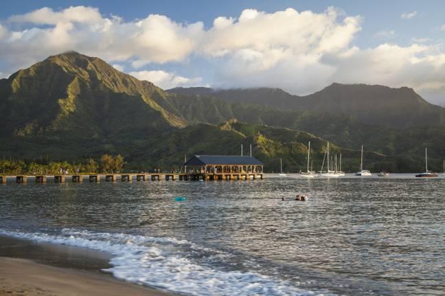 Você fará uma parada na bela ilha de Kauai, no Havaí.  Crédito: PA