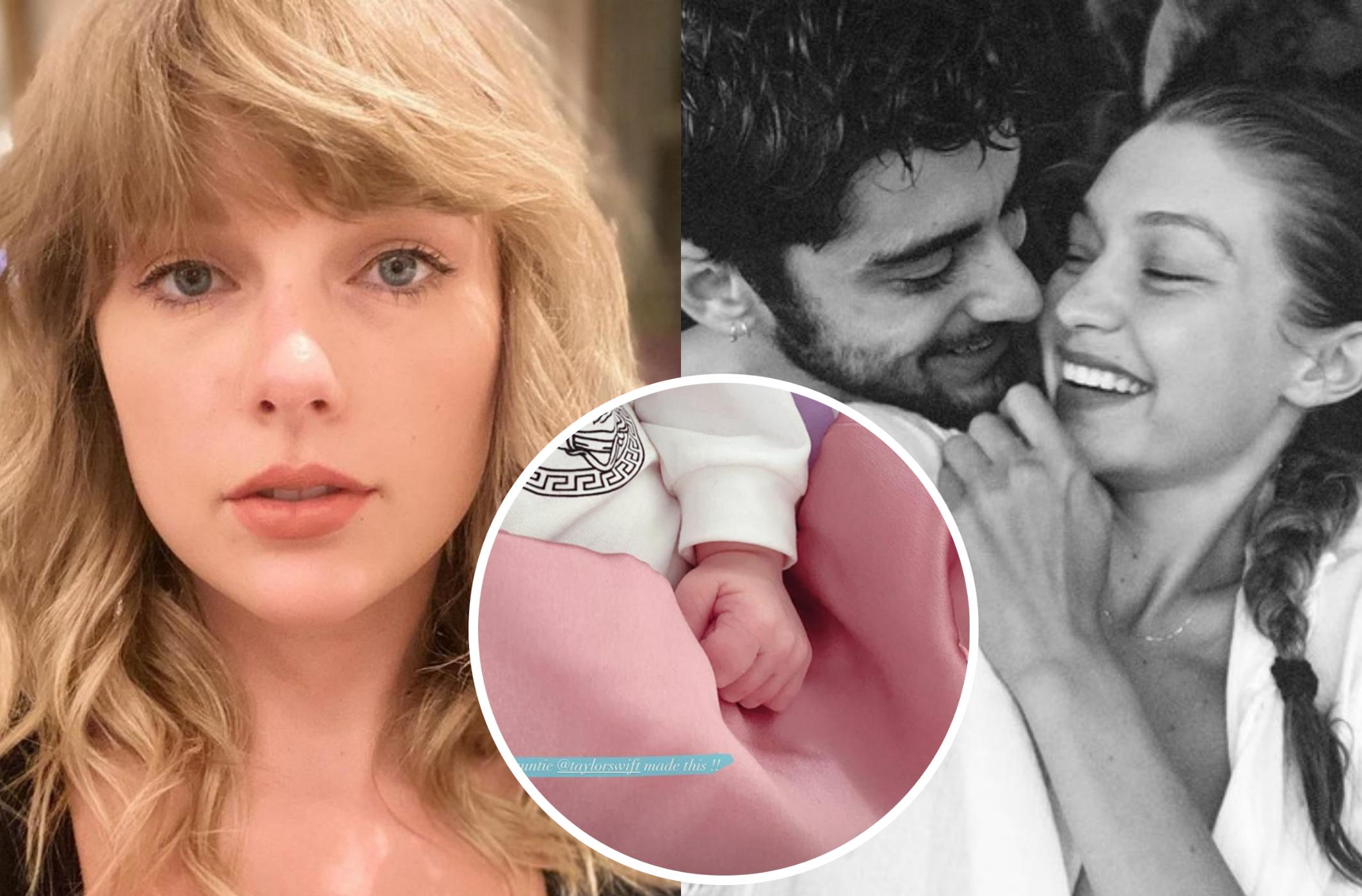 Taylor Swift presenteia filha de Zayn e Gigi Hadid com coberta feita por  ela mesma