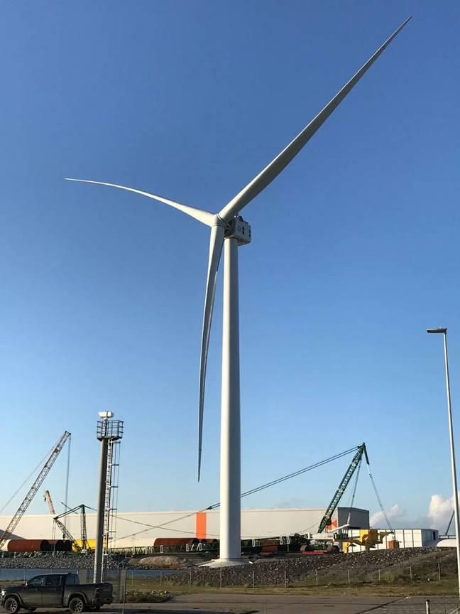 A maior turbina eólica do mundo pode alimentar uma casa por dois dias com uma rotação